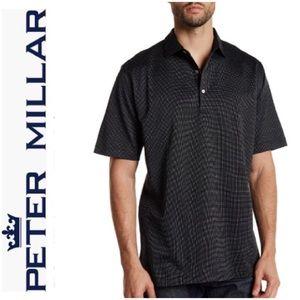 🆕 WOTS Peter Millar Sz L Three Dot Polo Shirt